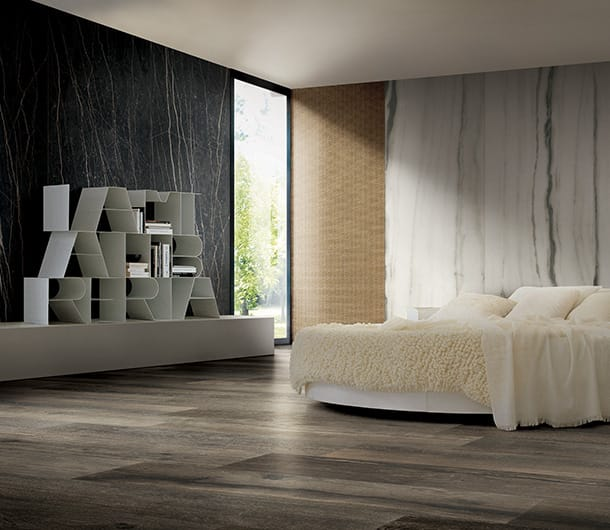 fliesen im schlafzimmer florim ceramiche s p a. Black Bedroom Furniture Sets. Home Design Ideas