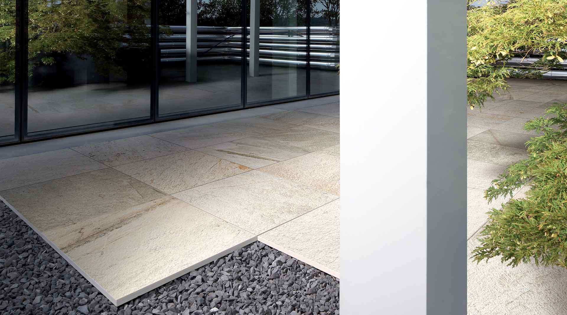 How to lay outdoor tiles on gravel or sand with its 20 mm material thickness it is ideal for installation on gravel and sand the system is extremely easy to install and can be freely repositioned dailygadgetfo Gallery