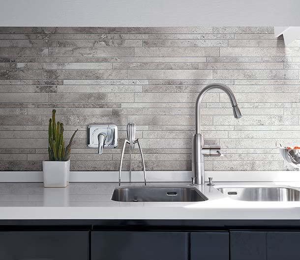 Piastrelle cucina per pavimenti e rivestimenti florim - Rivestimento cucina effetto pietra ...
