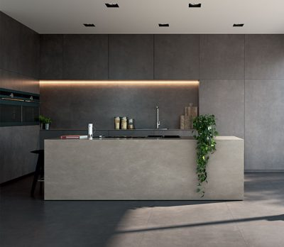 pavimento cucina in stile Industrial