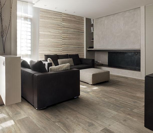 effetto legno in soggiorno Styletech