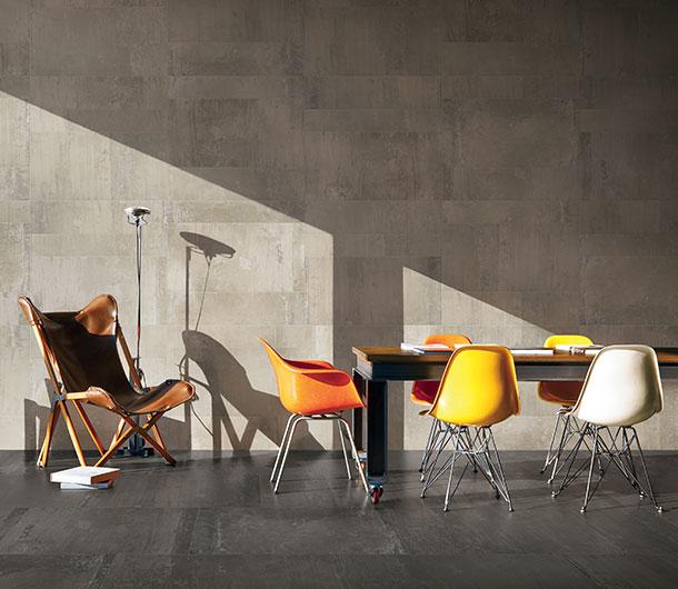 piastrelle soggiorno effetto cemento Contemporary stone