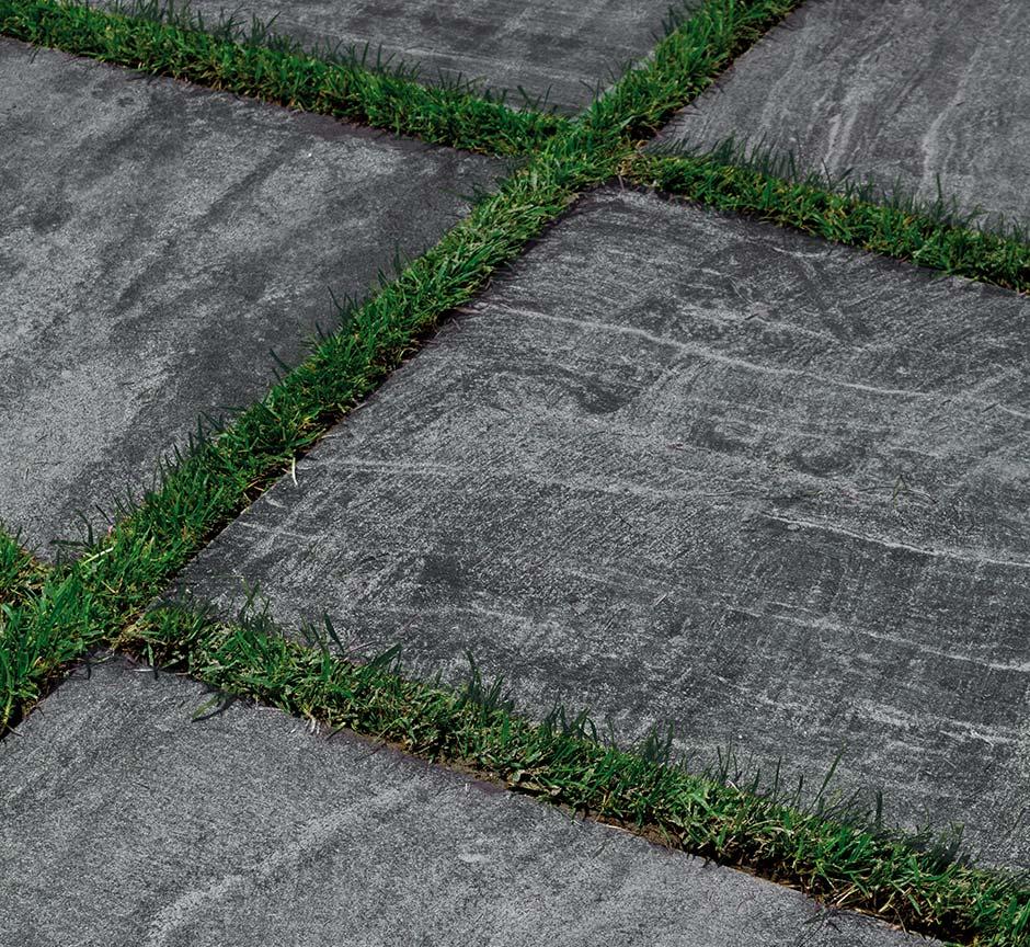 Posa Pavimento A Secco Giardino posa a secco su erba, gres 20 mm | florim ceramiche s.p.a.