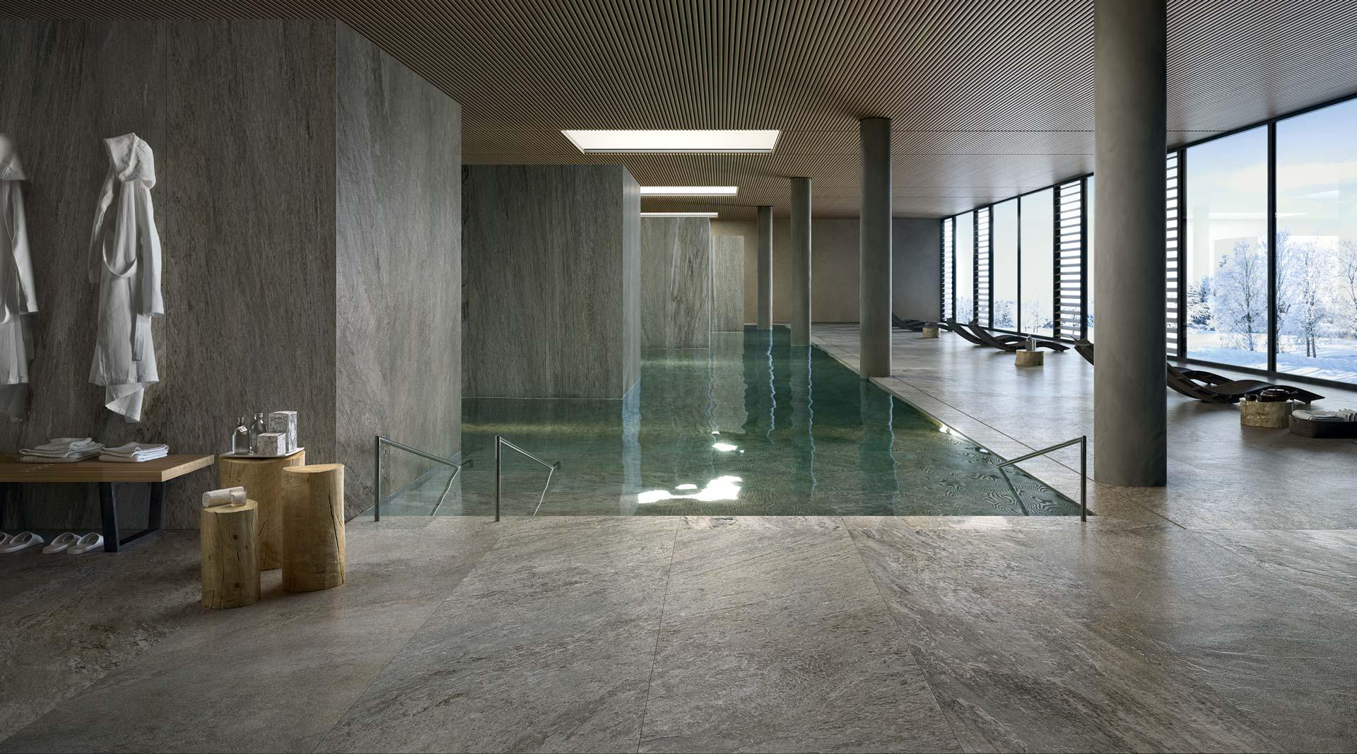 Piastrelle per piscine centri welness spa florim ceramiche s p a